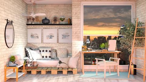 Teal Dorm - Bedroom  - by tinydancer2792