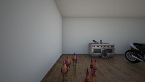 man in oven - Kitchen  - by UrMom7777777777