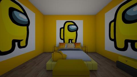 yellow among us bedroom - Bedroom  - by crying_room