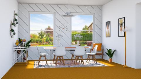 Orange Carpet - Living room - by Ritix