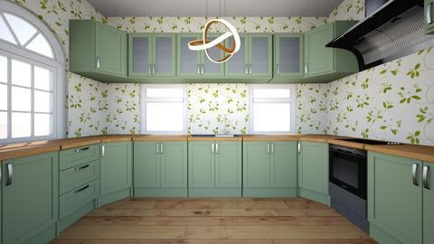 my green kitchen - Kitchen  - by juliesalam