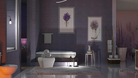 Lavender Bathroom - Bathroom  - by Sue Bonstra