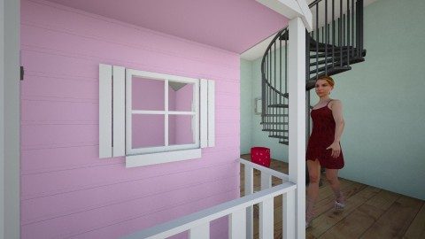 pink house in a room - Glamour - Kids room  - by keinya webb