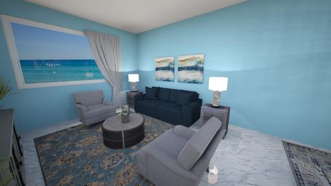 Beach Condo - Living room  - by smyoussef