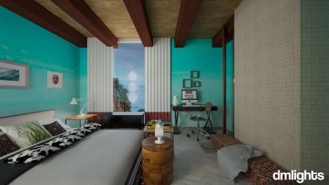 Wood Bedroom - Bedroom - by DMLights-user-983890