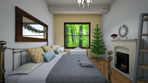 Bedroom In The Woods - by cowgirlsweet
