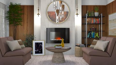 M_ Fire - Living room  - by milyca8
