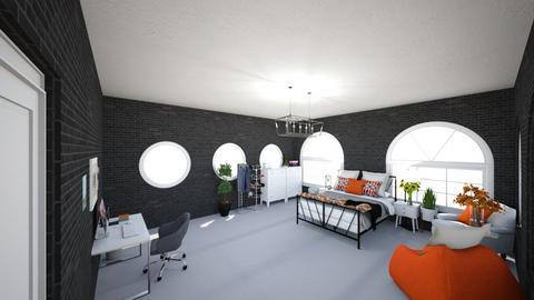 Orange - Modern - Bedroom  - by anamsatyroh