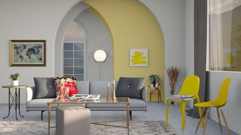 yellow chairs - Living room  - by Lilaah