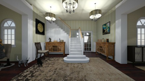 traditional foyer  - Classic - by kla