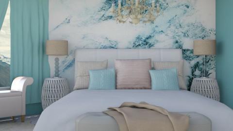 Madrid Teal - Glamour - Bedroom  - by Liu Kovac