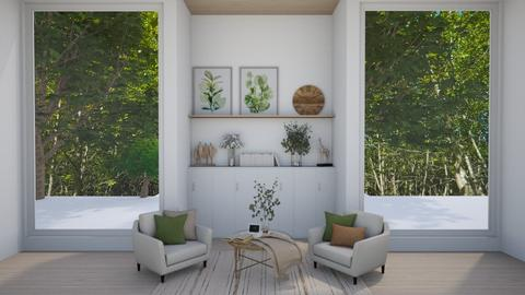 Forest Reading Room - Living room  - by crystal_clear_skies