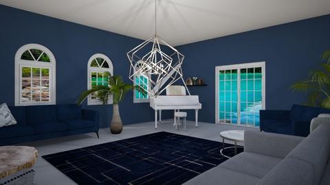 SilverNavy - Living room  - by CinnamonGirly