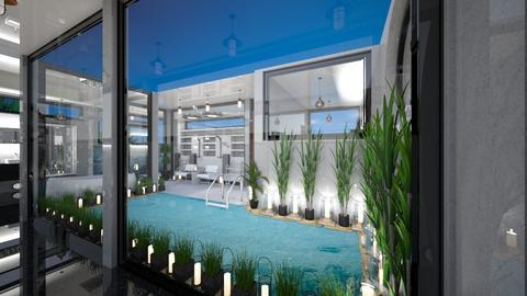 Swim Out Courtyard OTW - Modern - Bathroom  - by Amyz625