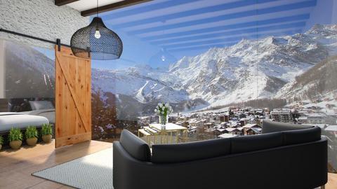 Saas Fee  - Living room  - by Meghan White