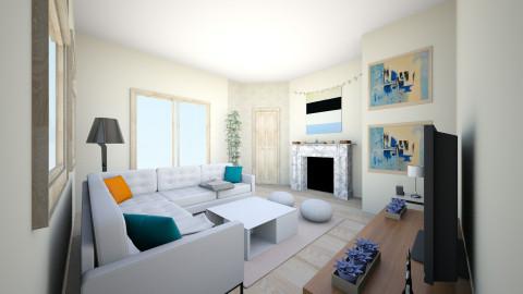 light living room - Living room - by Julia Czeko Zienkiewicz
