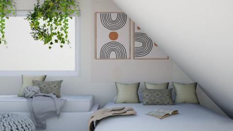Sloped ceiling bedroom - Bedroom  - by LilLil