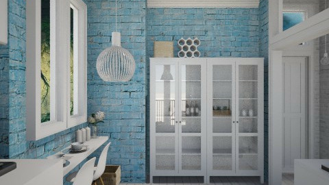 Candy Blue Kitchen - Feminine - Kitchen  - by Maria Esteves de Oliveira