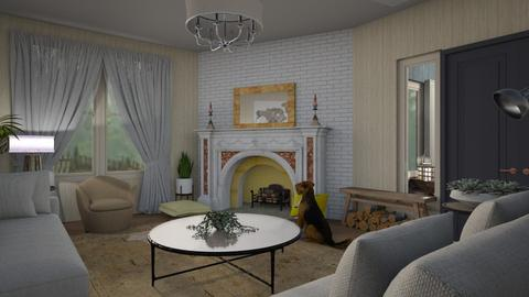 Feature fireplace - Eclectic - Living room  - by augustmoon