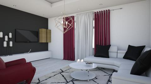 trendy living room - Living room  - by nikolin_