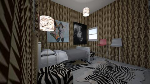 Zebra Crazy - Retro - Bedroom  - by lovecarley