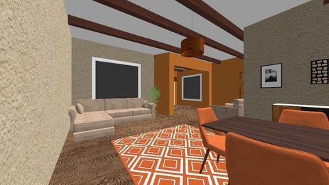 Orange cottage - Living room  - by deandesigns