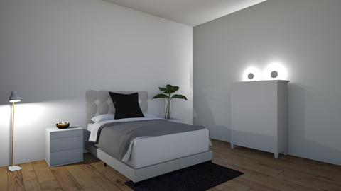 minimalistic bedroom  - Minimal - Bedroom  - by 24fullmt