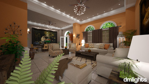 georgia - Country - Living room  - by DMLights-user-981898
