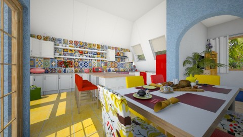 family - Eclectic - Kitchen  - by donella