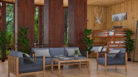 Student Loft - Rustic - Living room  - by millerfam