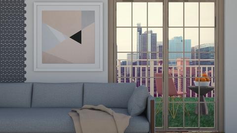 City Balcony - Living room  - by Yudum Kutlu