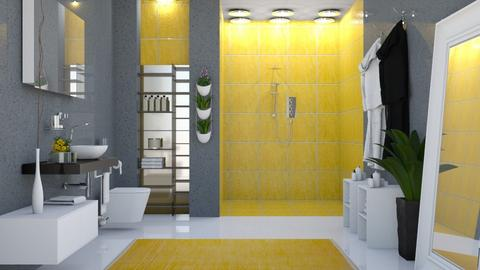 Yellow Bathroom  - by kelseyleigh3