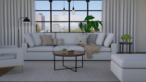 White sofa - Living room  - by Thrud45
