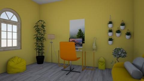 Lemon Room - Bedroom  - by MaddiClark2