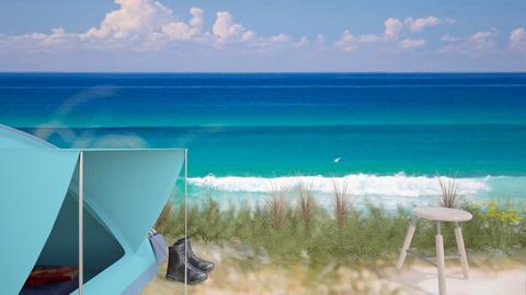 summer beach bedroom - Bedroom  - by Tulipz