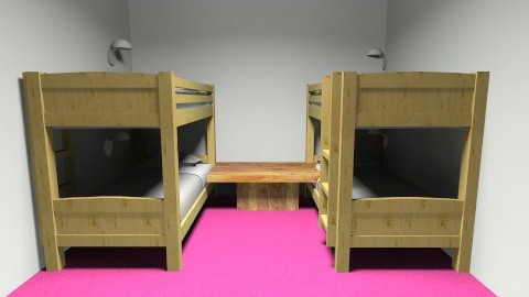 Hot Pink Room - Kids room - by Sara Price