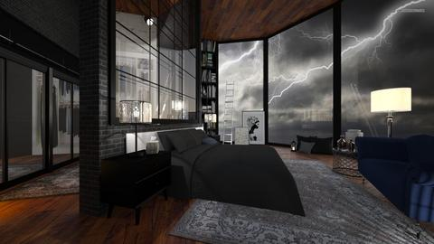 stormy bedroom - by Senia N