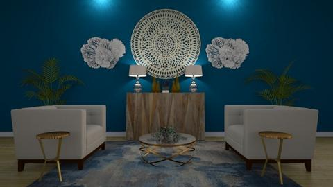 Blue - Modern - Living room - by Claudia Correia