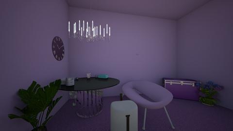 purple darkness  - Living room - by swirlyAj