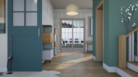 Turquoise M Hallway - by KimAlys