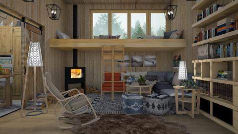 the house in nature  - Eclectic - Living room  - by malaschindi