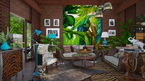 tropical  - Eclectic - Living room  - by Ida Dzanovic