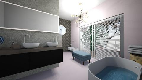 Cherry Blossom Bathroom - Bathroom  - by wiwa