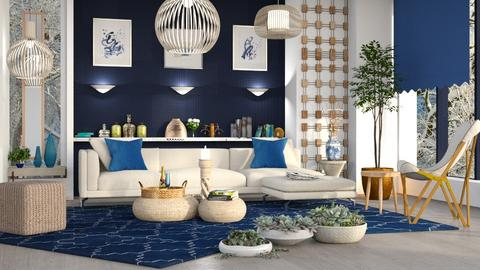 M_Blue and natural - Living room  - by milyca8