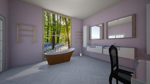 lavender bathroom - Bathroom  - by EraseChaos