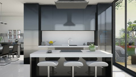 Black kitchen - Modern - Kitchen - by XValidze