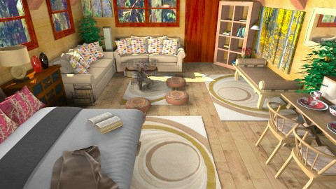 Holiday hut  - Country - Living room  - by Suzanne Hoskins