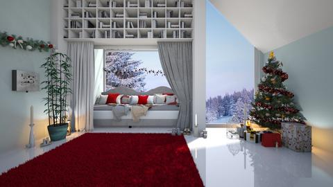 Modern Christmas Cottage - Modern - Bedroom  - by Dragonets of Destiny