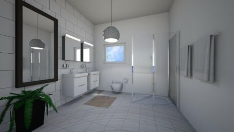 Royal White Bathroom - Modern - Bathroom  - by millerfam