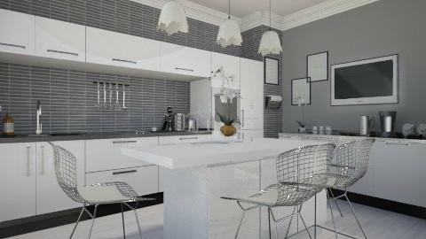 single - Modern - Kitchen  - by nataliaMSG
